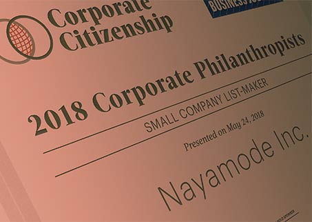 Honored to make the list again for Most Philanthropic Companies in WA state