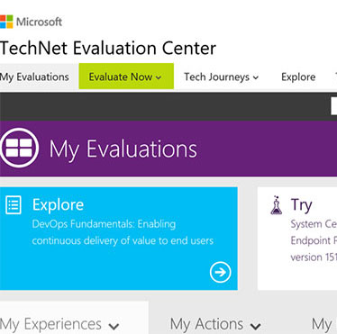 MICROSOFT TECHNET EVALUATION CENTER STRATEGY