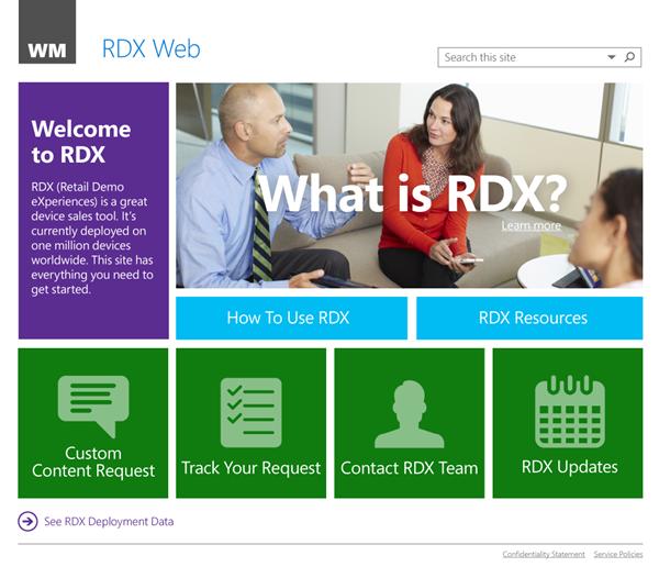Retail Demo Experience (RDX)