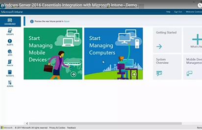 OEM TV: Windows Server 2016 Essentials and Intune